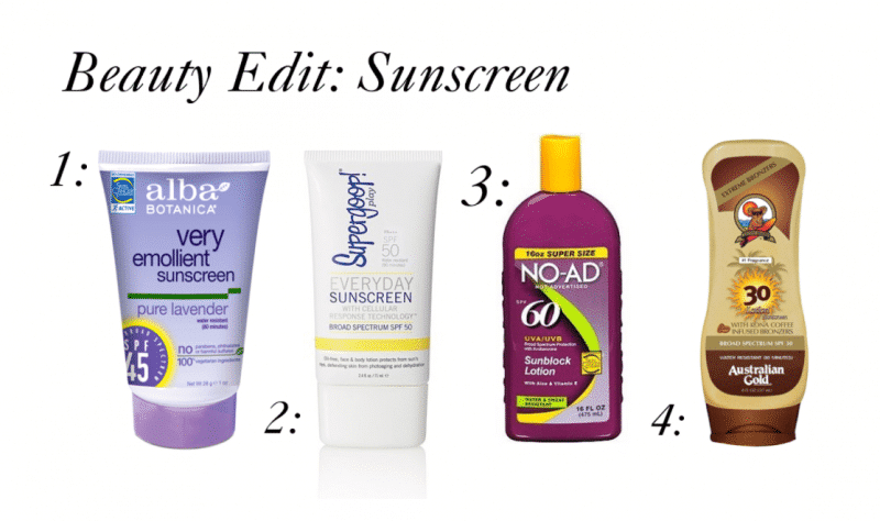 Beauty Edit: Sunscreen